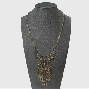 Sarah Coventry Stamped -  70s Gold Tone Necklace